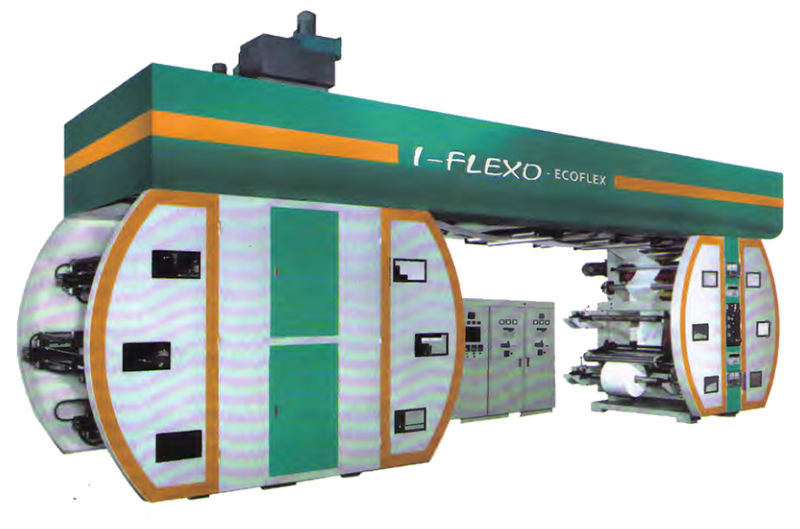 Central impression flexo printing press